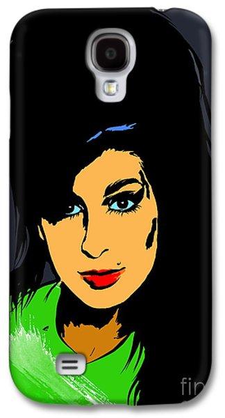 Hairstyle Digital Galaxy S4 Cases -  Amy  Winehouse Galaxy S4 Case by Andrzej Szczerski