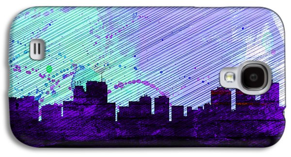 Architectural Paintings Galaxy S4 Cases -  Anchorage City Skyline Galaxy S4 Case by Naxart Studio