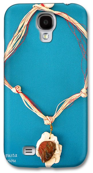Green Jewelry Galaxy S4 Cases -   Aphrodite Gamelioi Necklace Galaxy S4 Case by Augusta Stylianou