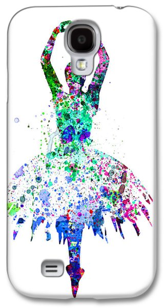 Ballet Dancers Digital Art Galaxy S4 Cases -  Ballerina Dancing Watercolor 4 Galaxy S4 Case by Naxart Studio