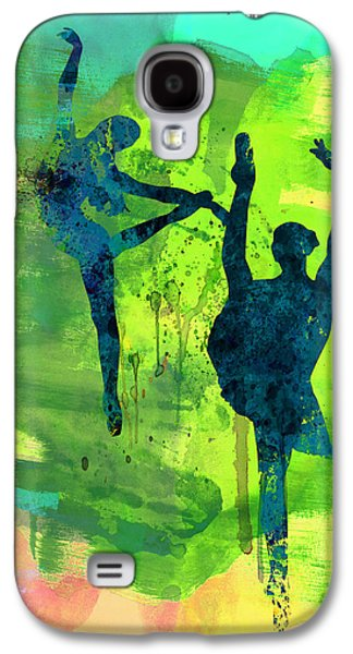 Young Mixed Media Galaxy S4 Cases -  Ballet Watercolor 1 Galaxy S4 Case by Naxart Studio