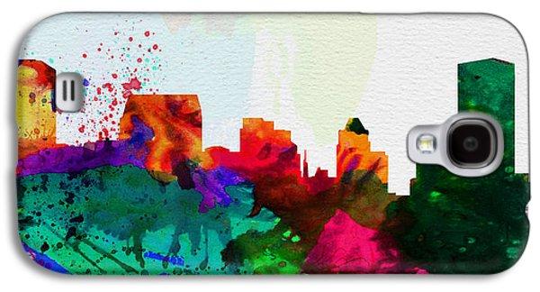 Baltimore Galaxy S4 Cases -  Baltimore City Skyline Galaxy S4 Case by Naxart Studio