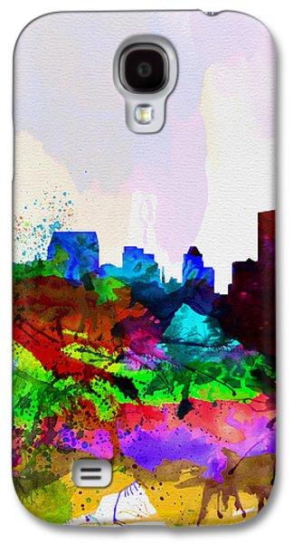 Baltimore Galaxy S4 Cases -  Baltimore Watercolor Skyline Galaxy S4 Case by Naxart Studio