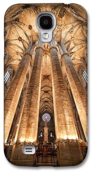 Basilica Of Santa Maria Del Mar In Barcelona Galaxy S4 Case by Artur Bogacki