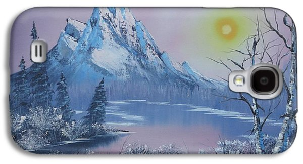 Bob Ross Paintings Galaxy S4 Cases -  Blue Winters Sunglow  Galaxy S4 Case by Bob Williams