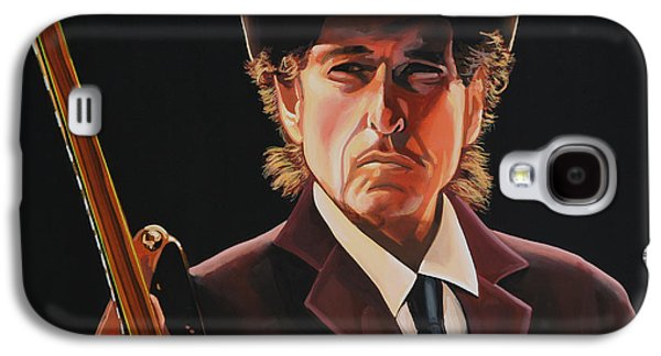 Bob Paintings Galaxy S4 Cases -  Bob Dylan 2 Galaxy S4 Case by Paul  Meijering