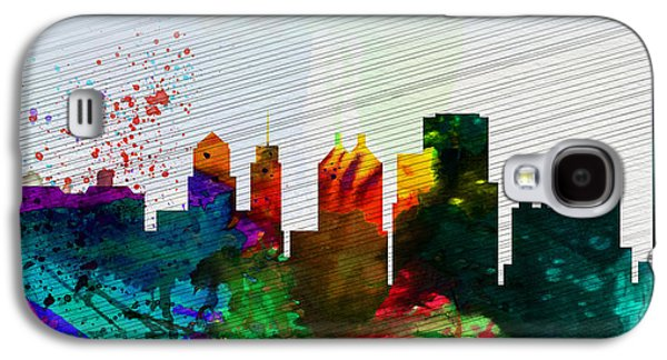 Architectural Paintings Galaxy S4 Cases -  Buffalo City Skyline Galaxy S4 Case by Naxart Studio