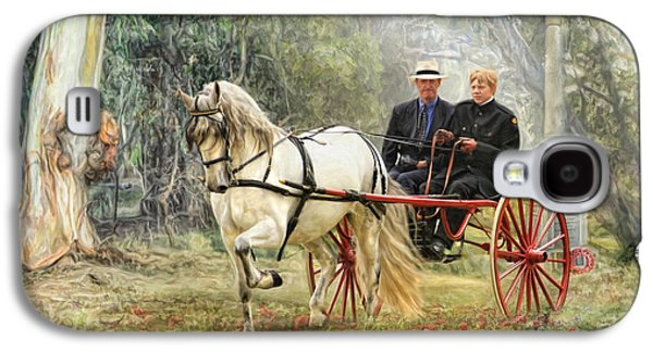 Horse And Cart Digital Art Galaxy S4 Cases -  Bushland Poppies Galaxy S4 Case by Trudi Simmonds