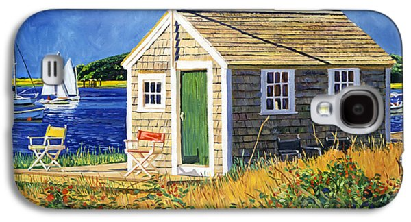 Cape Cod Paintings Galaxy S4 Cases -  Cape Cod Boat House Galaxy S4 Case by David Lloyd Glover