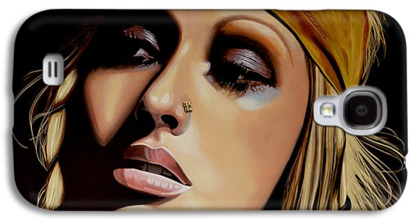 Rhythm And Blues Galaxy S4 Cases -  Christina Aguilera Galaxy S4 Case by Paul Meijering