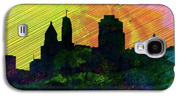 Architectural Paintings Galaxy S4 Cases -  Cincinnati City Skyline Galaxy S4 Case by Naxart Studio