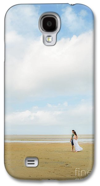 Cape Cod Galaxy S4 Cases -  Couple on the Beach on Cape Cod Galaxy S4 Case by Diane Diederich