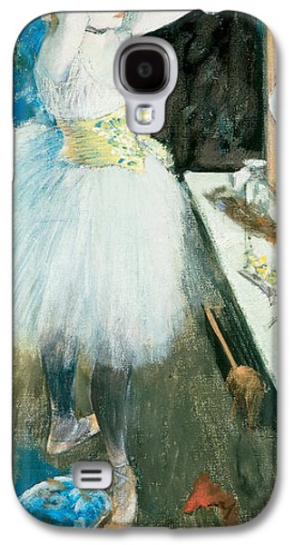 Dressing Room Galaxy S4 Cases -  Dancer in Her Dressing Room Galaxy S4 Case by Edgar Degas