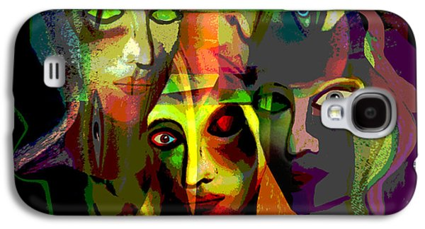 Macabre Digital Galaxy S4 Cases -   Demons  Angels  - 214 Galaxy S4 Case by Irmgard Schoendorf Welch