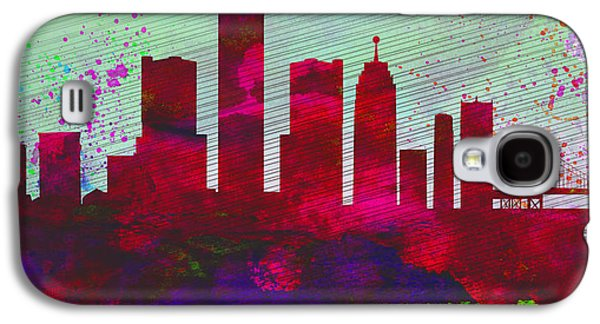 Detroit Digital Galaxy S4 Cases -  Detroit City Skyline Galaxy S4 Case by Naxart Studio
