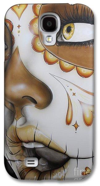 Sugar Skull - ' Dia De Los Muertos ' Galaxy S4 Case by Christian Chapman Art
