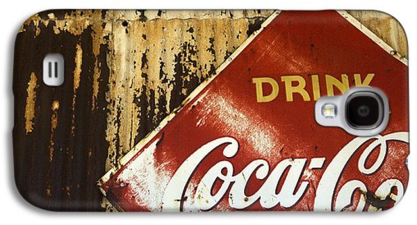 Coca-cola Signs Galaxy S4 Cases -  Drink Coca Cola  Memorbelia Galaxy S4 Case by Bob Christopher