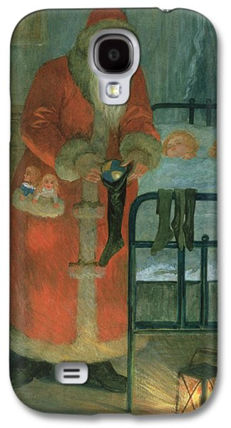Santa Claus Paintings Galaxy S4 Cases -  Father Christmas  Galaxy S4 Case by Karl Roger