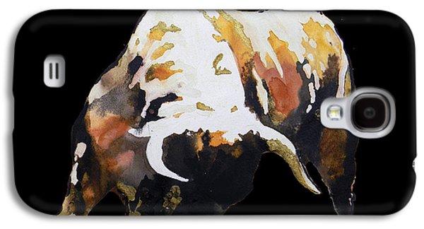 Handmade Galaxy S4 Cases -  Fight Bull In Black Galaxy S4 Case by Jose Espinoza
