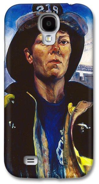 Discrimination Paintings Galaxy S4 Cases -  Firefighter Brenda Berkman Galaxy S4 Case by Jesse Gardner