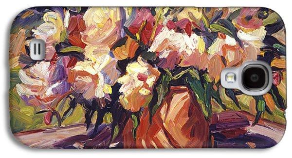 Cut Flowers Galaxy S4 Cases -  Flower Bucket Galaxy S4 Case by David Lloyd Glover