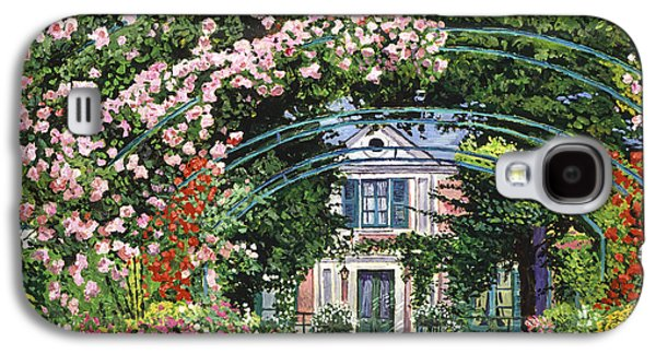 Pathway Paintings Galaxy S4 Cases -  Flowering Arbor Giverny Galaxy S4 Case by David Lloyd Glover