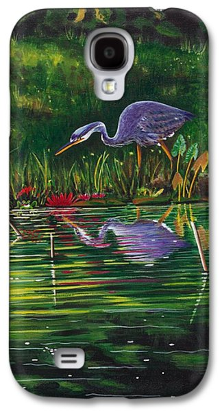 Group Of Birds Paintings Galaxy S4 Cases -  Food Chain   Galaxy S4 Case by Joy Bradley