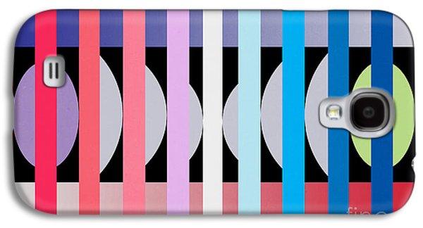 Contemporary Abstract Galaxy S4 Cases -  Fun Geometric  Galaxy S4 Case by Mark Ashkenazi