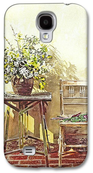 Gardenscapes Galaxy S4 Cases -  Gardeners Corner Galaxy S4 Case by David Lloyd Glover