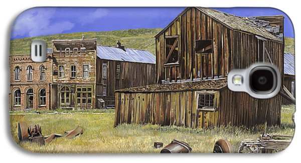 Town Paintings Galaxy S4 Cases -  ghost town of Bodie-California Galaxy S4 Case by Guido Borelli