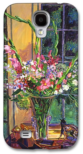 Gladiolas Galaxy S4 Cases -  Gladiola Arrangement Galaxy S4 Case by David Lloyd Glover