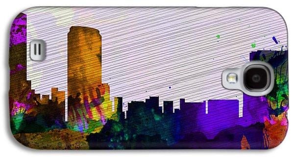 Usa Mixed Media Galaxy S4 Cases -  Grand Rapids City Skyline Galaxy S4 Case by Naxart Studio