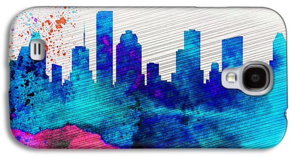 Architectural Paintings Galaxy S4 Cases -  Houston City Skyline Galaxy S4 Case by Naxart Studio