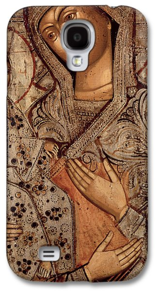 Icon Of The Blessed Virgin With Three Hands Galaxy S4 Case by Novgorod School