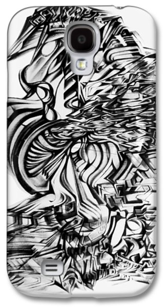 Abstract Digital Drawings Galaxy S4 Cases -  In The Zenith Of Expectancy  Galaxy S4 Case by The Door Project