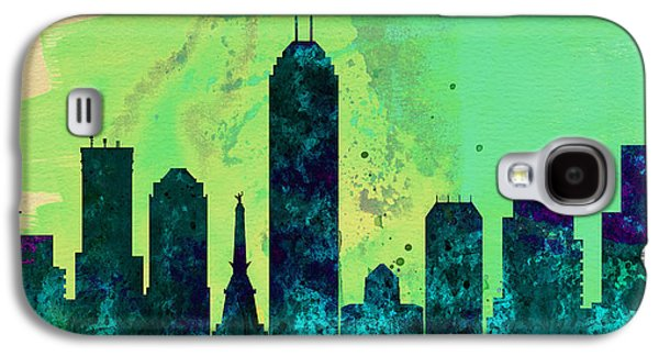 Architectural Paintings Galaxy S4 Cases -  Indianapolis City Skyline Galaxy S4 Case by Naxart Studio