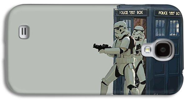 Tardis Galaxy S4 Cases -  163. Inform Lord Vader we have the Tardis Galaxy S4 Case by Tam Hazlewood