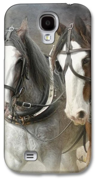 Working Mixed Media Galaxy S4 Cases -  Just Another Day Galaxy S4 Case by Trudi Simmonds