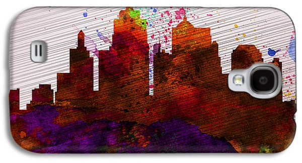 Kansas Galaxy S4 Cases -  Kansas City Skyline Galaxy S4 Case by Naxart Studio