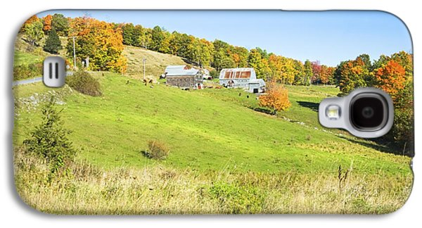Maine Roads Galaxy S4 Cases -  Maine Farm On Side Of Hill In Autumn Galaxy S4 Case by Keith Webber Jr