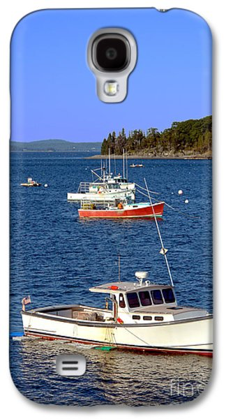 Fleeting Galaxy S4 Cases - Maine Lobster Boat Galaxy S4 Case by Olivier Le Queinec