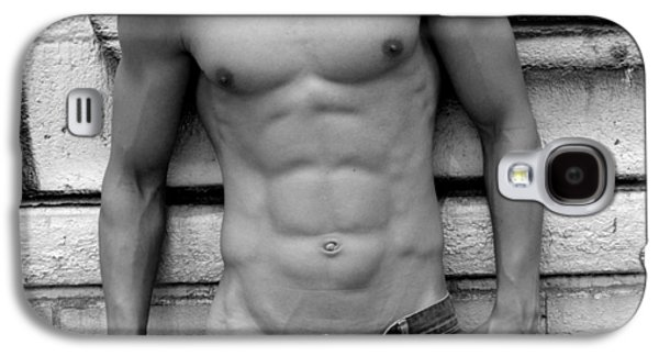 Athlete Digital Art Galaxy S4 Cases -  Male Abs Galaxy S4 Case by Mark Ashkenazi