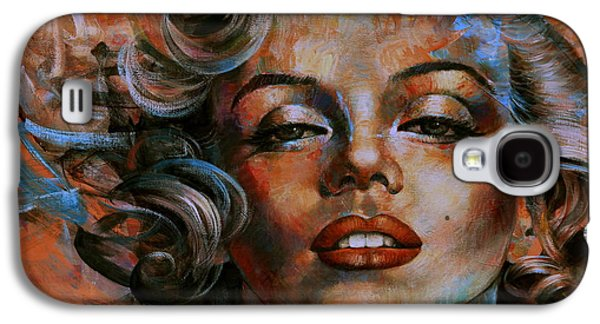 Marilyn Monroe Galaxy S4 Case by Arthur Braginsky