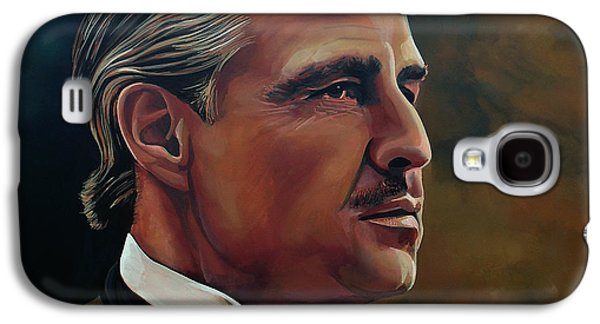 The Godfather Galaxy S4 Cases -  Marlon Brando Galaxy S4 Case by Paul Meijering