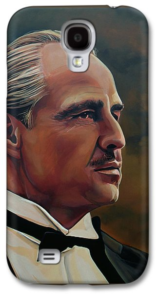 Idol Galaxy S4 Cases -  Marlon Brando Galaxy S4 Case by Paul Meijering
