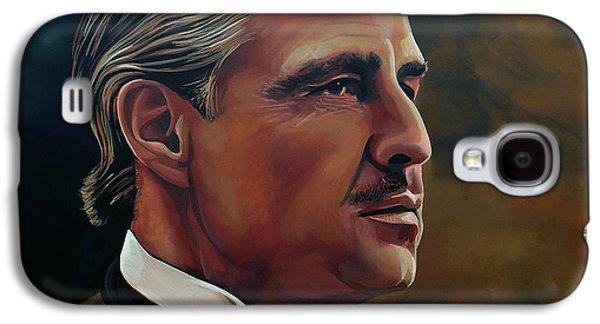 Paul Meijering Galaxy S4 Cases -  Marlon Brando Galaxy S4 Case by Paul Meijering