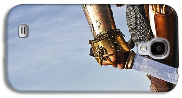 Knight Photographs Galaxy S4 Cases -  Medieval Knight and Sword Galaxy S4 Case by Holly Martin