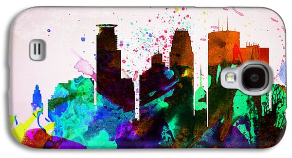 Architectural Digital Art Galaxy S4 Cases -  Minneapolis City Skyline Galaxy S4 Case by Naxart Studio
