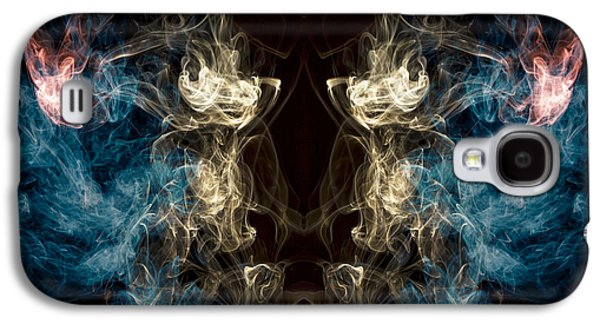 Minotaur Smoke Abstract Galaxy S4 Case by Edward Fielding