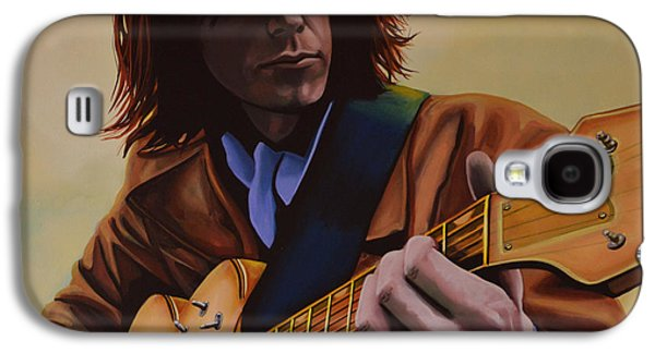 Heart Paintings Galaxy S4 Cases -  Neil Young  Galaxy S4 Case by Paul  Meijering
